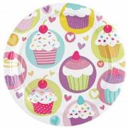 PARTY TANYÉR 23CM X8 MUFFIN